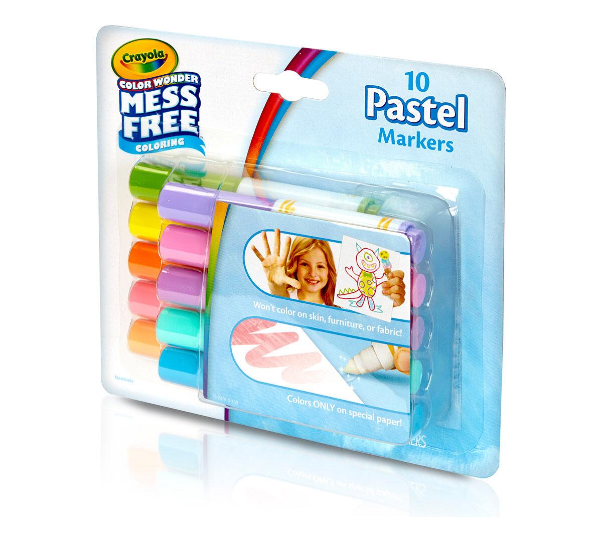 Crayola Color Wonder Mini Markers 10//pkg-pastels