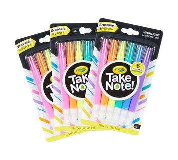 Take Note Erasable Highlighters, 18 Count