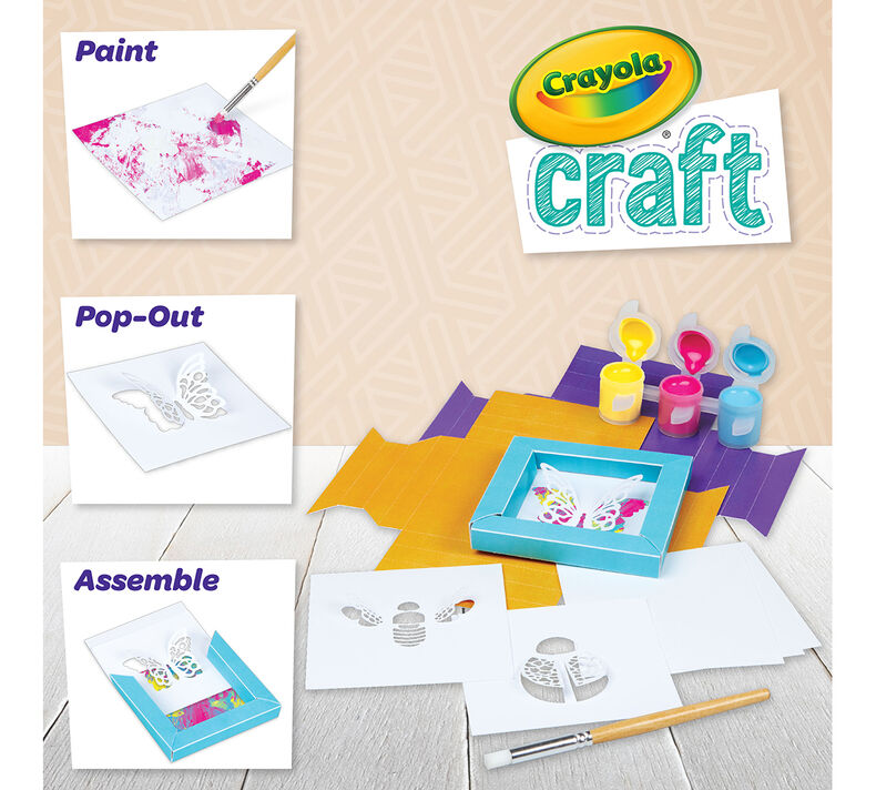Crayola Craft 3D Paper Frames Craft Kit