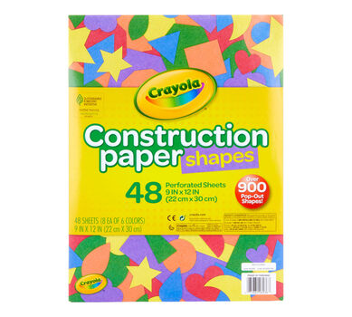 Construction Paper Shapes, 48 ct