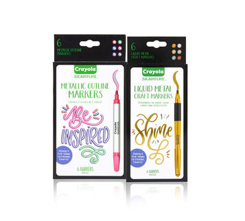Signature 2-in-1 Metallic Marker Set