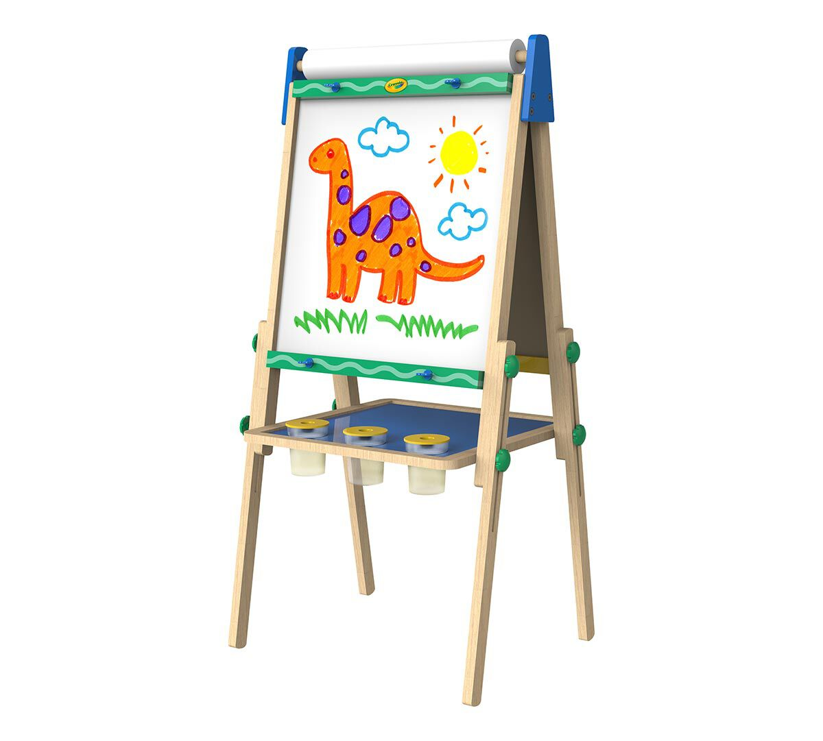 Crayola Kid S Wooden Easel Dry Erase Board Amp Chalkboard