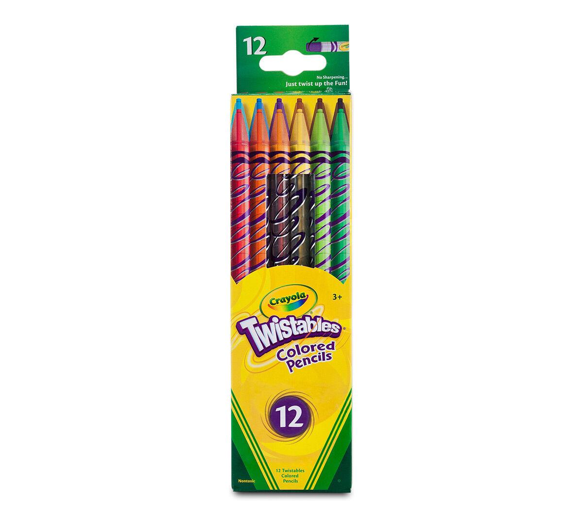 Crayola Twistables Colored Pencils Always Sharp Art Tools 12