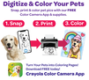 Digitize and Color Your Pets with our free Color Camera App and coloring supplies