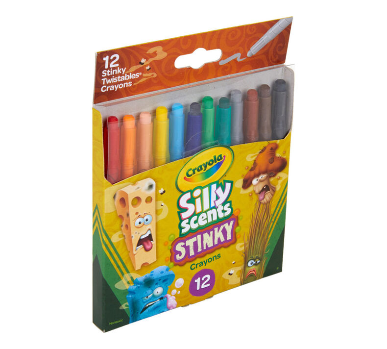 Silly Scents Mini Twistables Crayons, Stinky, 12 Count