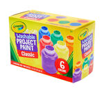 Crayola Washable Paint Classic Colors 6 Count Front
