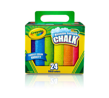 Washable Sidewalk Chalk, 24 Count