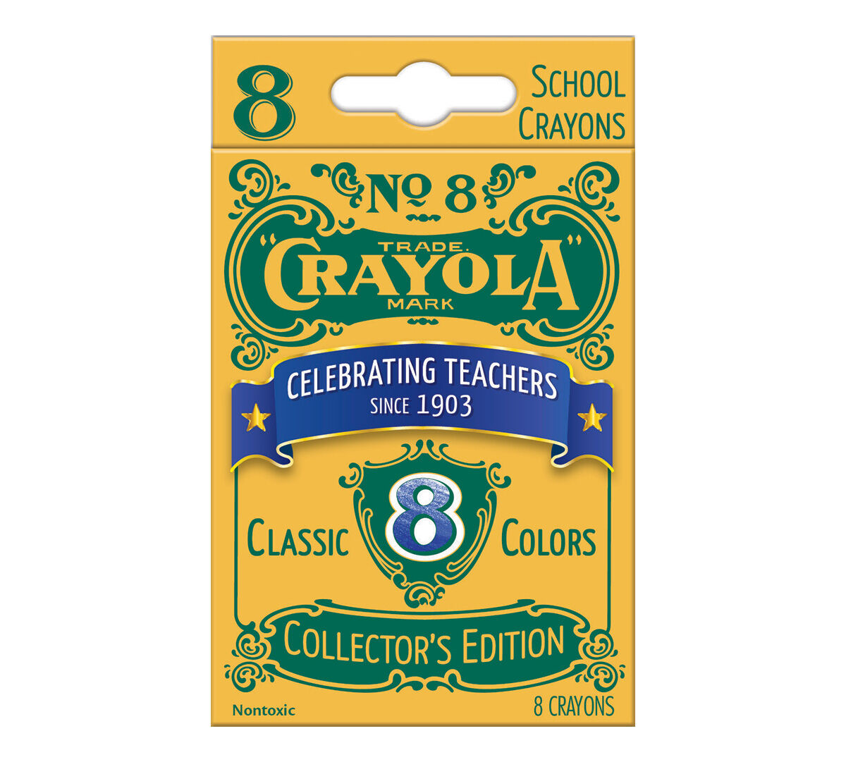 Limited Edition Crayola Crayons with Vintage Packaging, 8ct