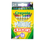 Metallic Crayons, 24 Count Front View of Package