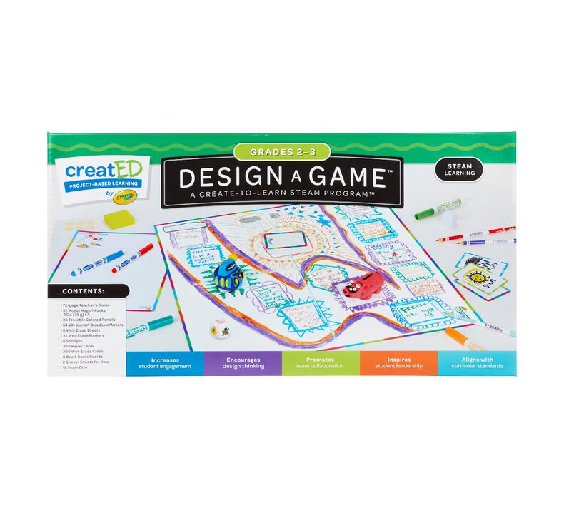 creatED® STEAM Design-a-Game for Classrooms for Grades 2-3