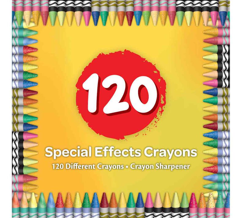Special Effects Crayon Set, 120 Count