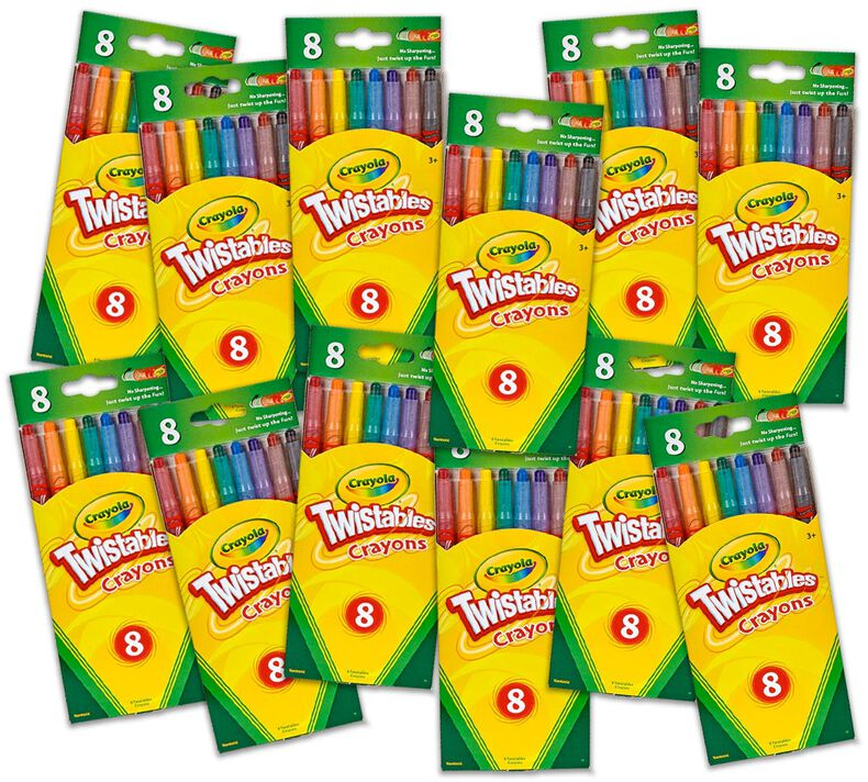 Twistables Crayon Classpack, 12 Individual Boxes of 8 Count Twistables Crayons