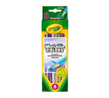 Metallic Colored Pencils, 8 Count Front View of Box