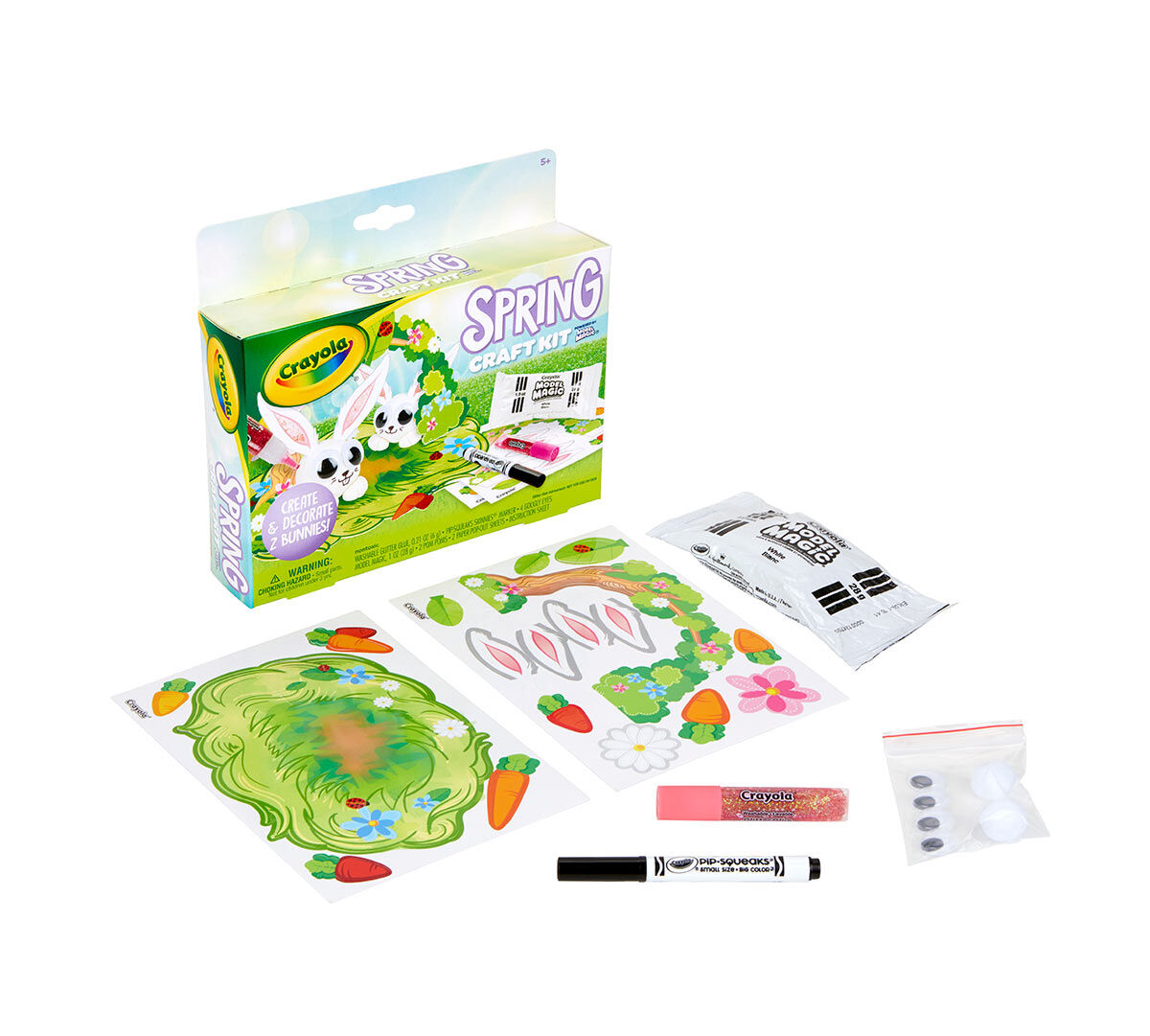 EASTER BUNNY SPRING TIME ACTIVITY SET COLORING BOOK CRAYONS SCRIBBLE PAD