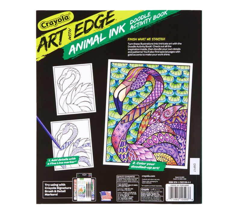 Art with Edge Jungle Animal Coloring Book