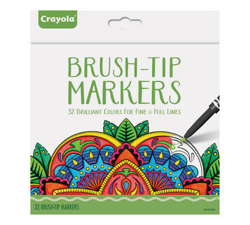 32 Count Brush Tip Markers
