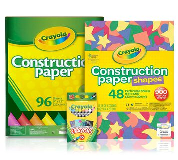 Crayon & Construction Paper Bundle