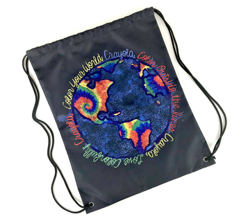Color Your World Tie Dye Drawstring Bag