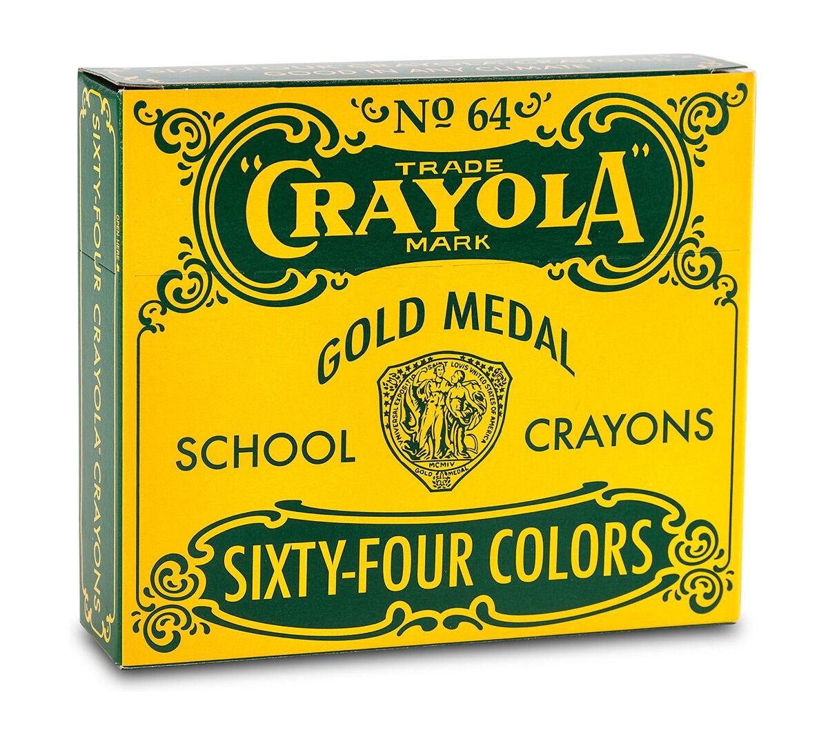 Vintage Box of 64 Crayons - Crayola