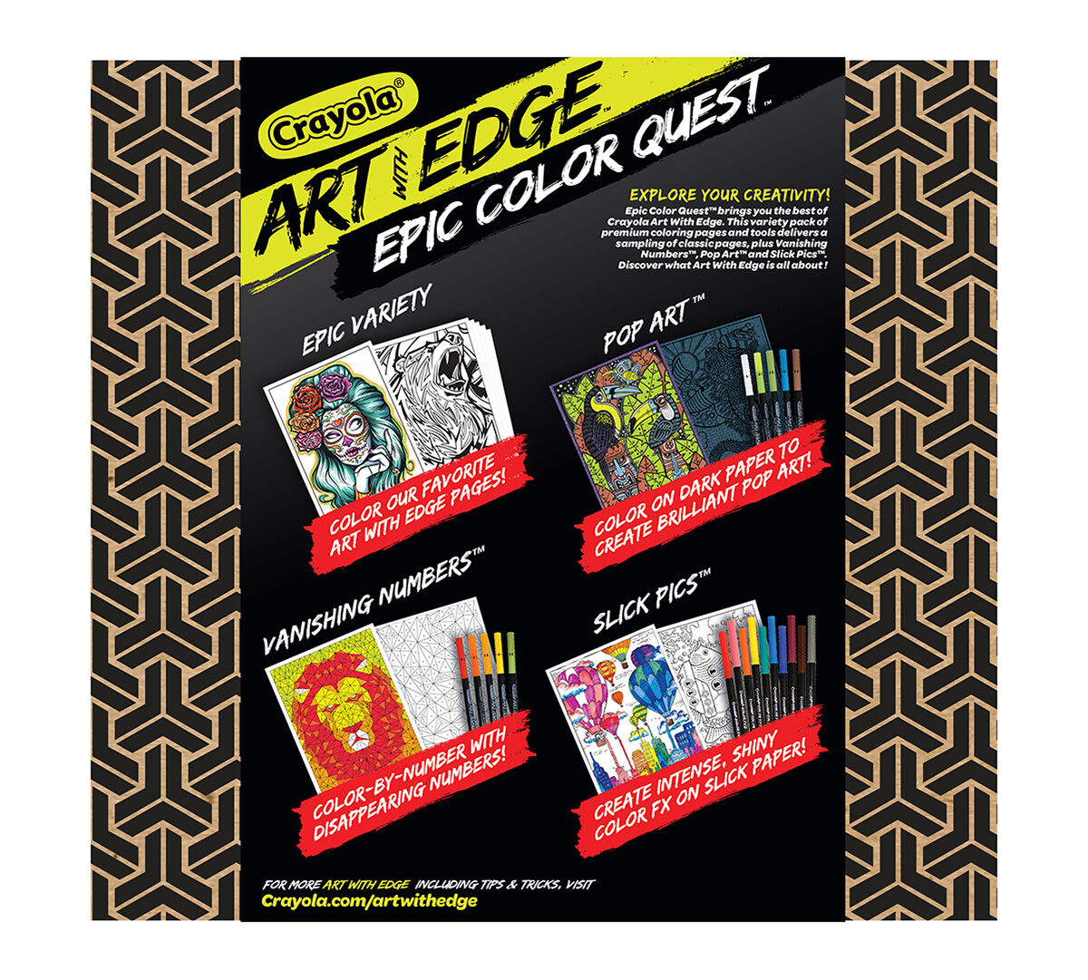 crayola art with edge epic color quest awe sampler art activities