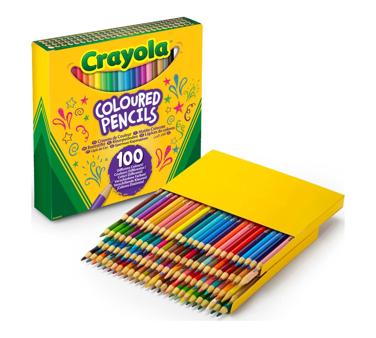 crayola colored pencils  100 count  vibrant colors  pre