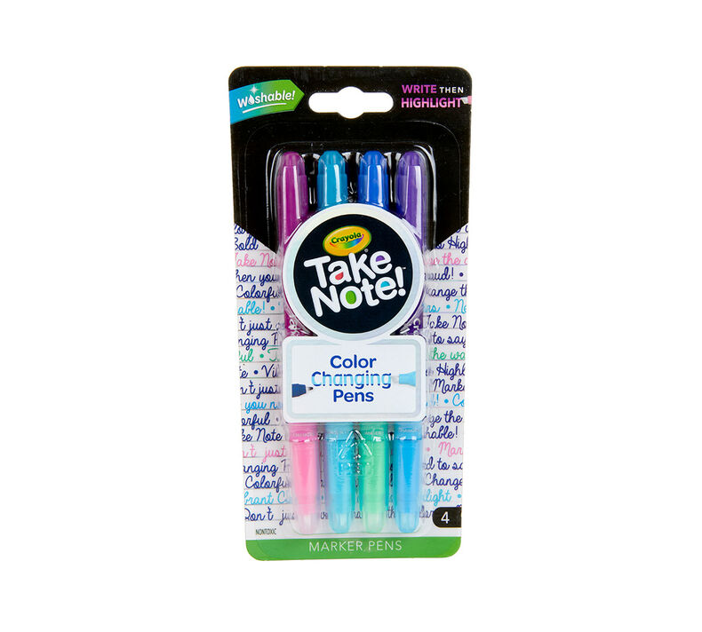 Take Note Dual Ended Color Changing Pens, 4 Count