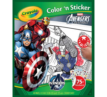 Avengers Color 'n Sticker Book