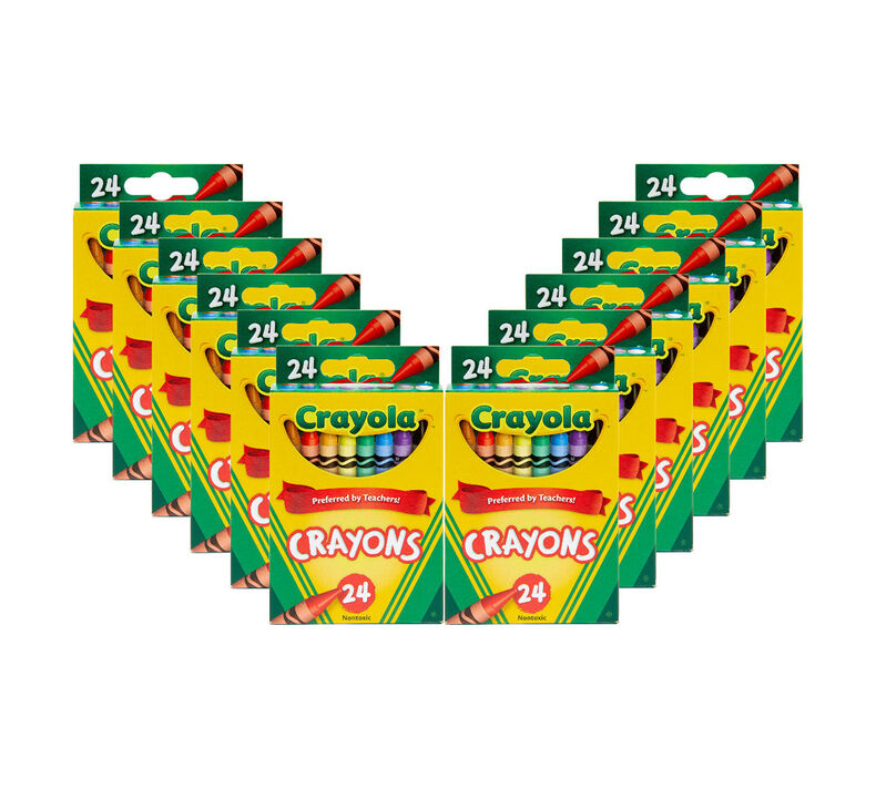 12 Box Classpack of 24 Count Crayons