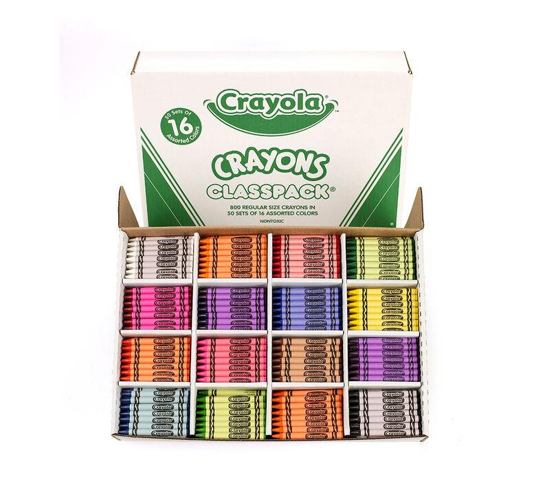 Crayon Classpack, 800 Count, 16 Colors