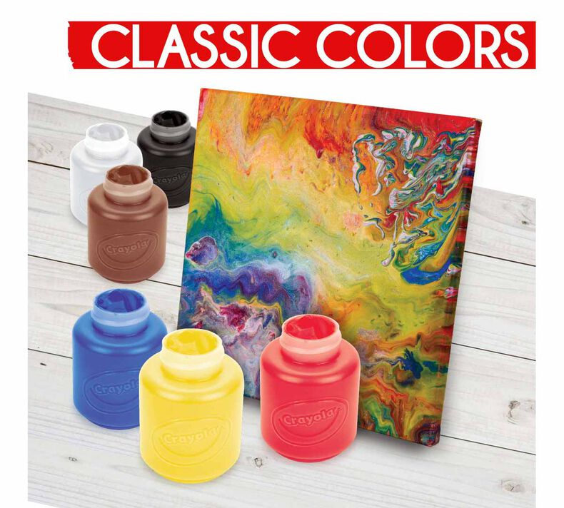 Acrylic Paints, Bold, 6 Count