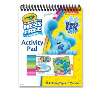 Color Wonder Mess Free Blue's Clues Coloring & Activity Pad Front View