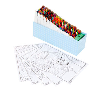 Crayola Crayon Set with Coloring Pages, 208 Count