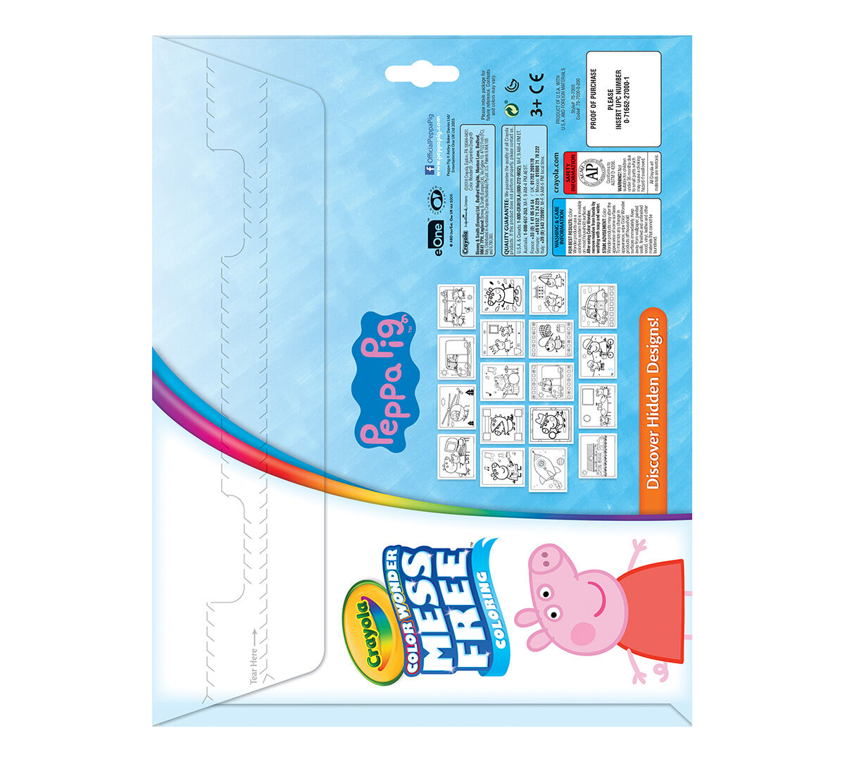 Crayola Color Wonder Peppa Pig Refill Coloring Book 5 Color Wonder Markers 18 Color Wonder
