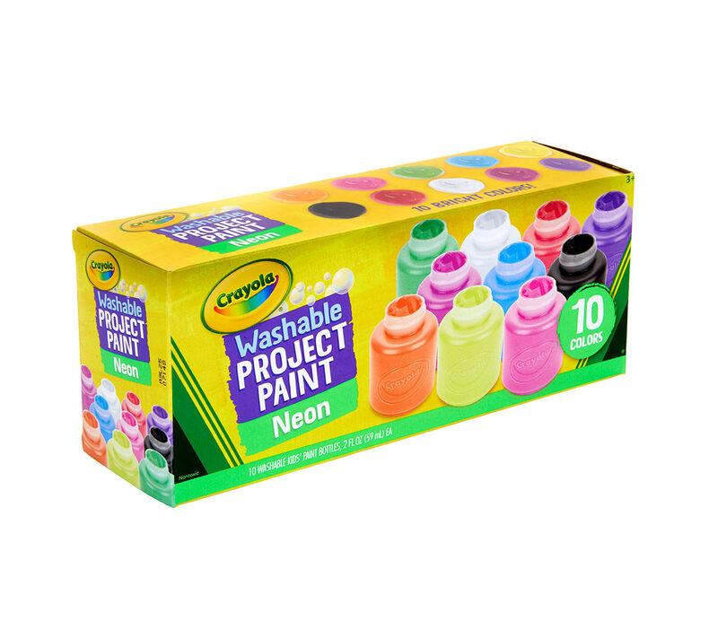 Washable Neon Paint, 10 Count