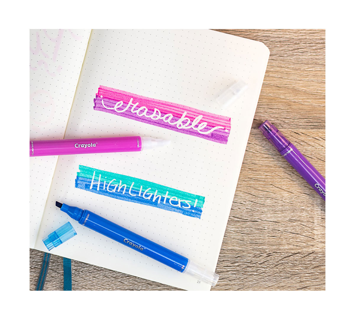 Crayola Take Note Erasable Highlighter Markers 6 Count
