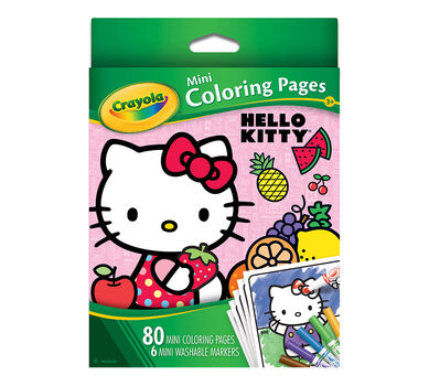 Mini Coloring Pages Hello Kitty Crayola
