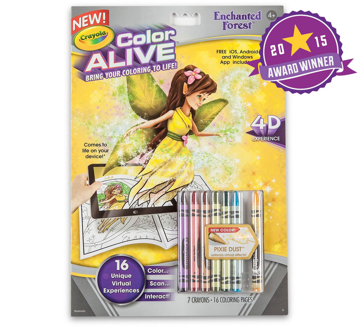 color alive enchanted forest crayola