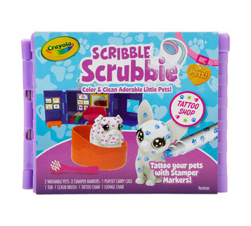 Scribble Scrubbie Pets Tattoo Shop