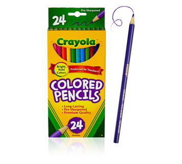 Colored Pencils, 24 Count Front View