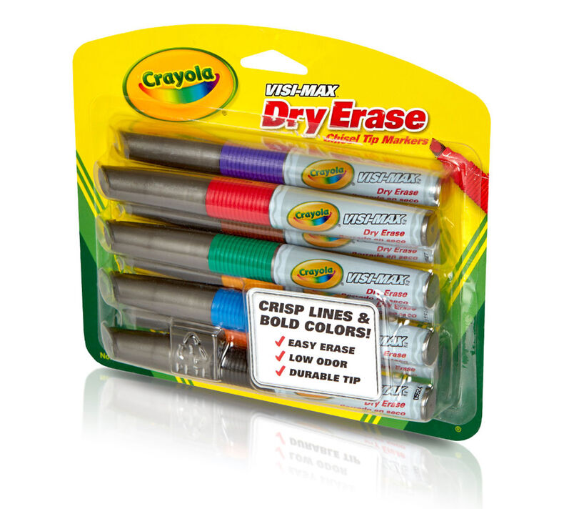 Visi-Max Dry-Erase Markers, Broad Line, 8 Count