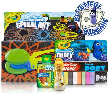 Crayola Sidewalk Chalk & Bubbles Value Set Front View