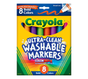Ultra-Clean Markers, Broad Line, Bold 8 Count Front View