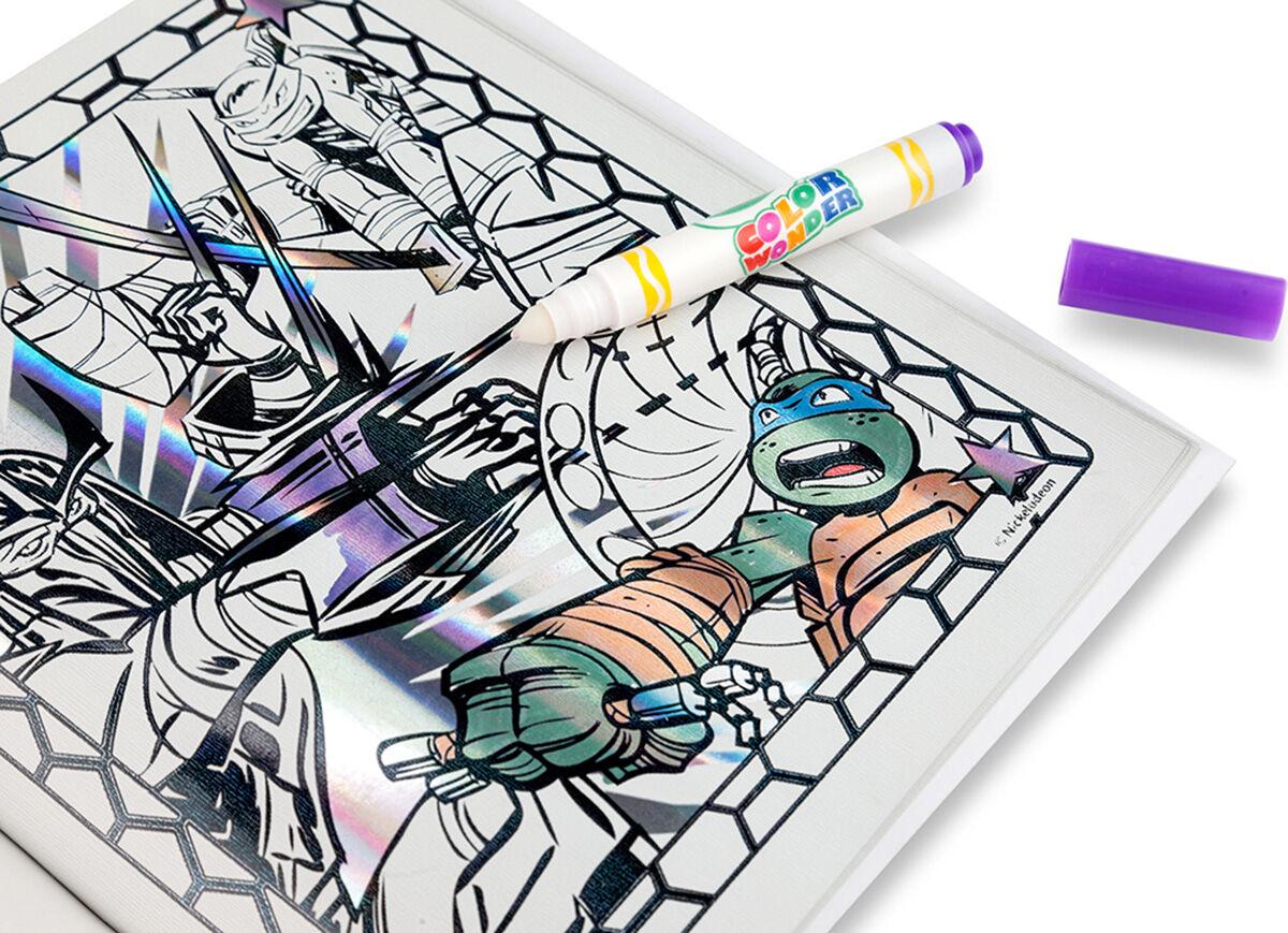 Color Wonder Metallic Paper Amp Markers Teenage Mutant