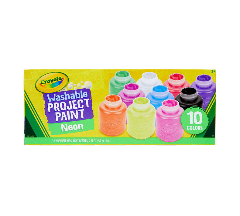Washable Neon Paint, 10 Count