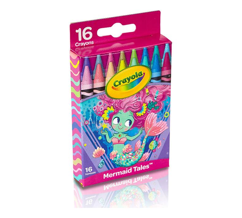 Mermaid Crayons, 16 Count