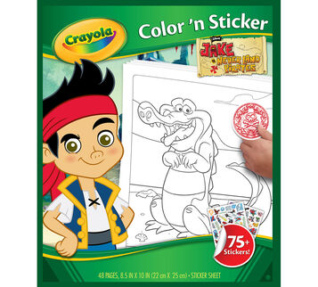 Jake and the Neverland Pirates Color 'n Sticker Book