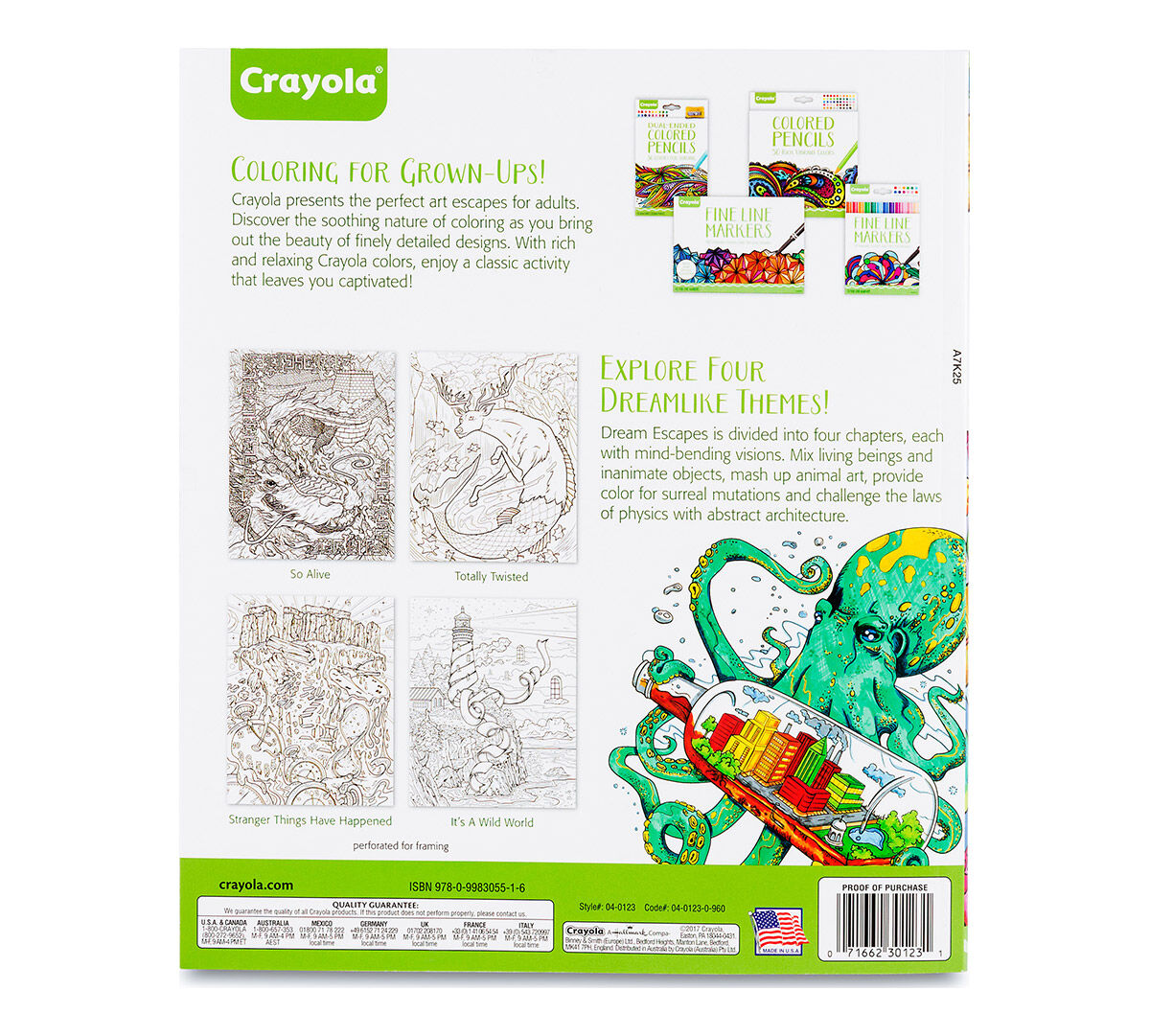 Crayola Dream Escapes Adult Coloring Art Activity 40 Pages