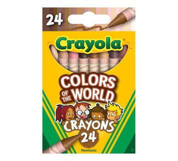 Colors of the World Multicultural Crayons, 24 Count Front View