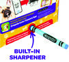Built in sharpener
