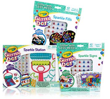 Glitter Dots 3-in-1 Craft Kit Front View